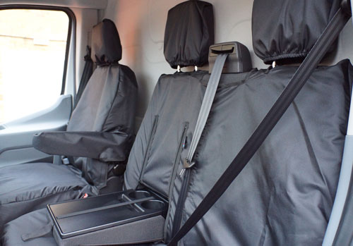 Ford Transit (2014-Present) Tailor-made Seat Covers - Drinks Holder Access