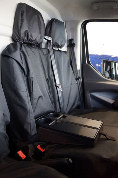 Ford Transit Custom (2013-Present) Tailor-made Van Seat Covers - Drinks Holder Access